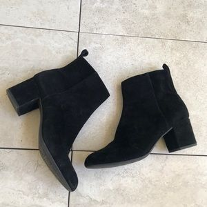 Gianni Bini Suede Black Ankle Boots